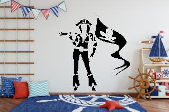 Pirátka s vlajkou