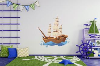 Pirátská loď barevná