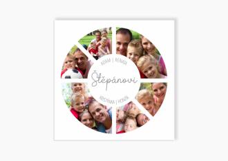 Rodinný fotoobraz kruh