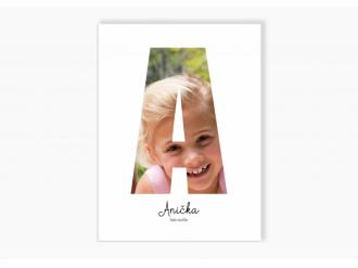 Dětský fotoobraz písmeno