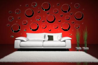 Samolepka na zeď bubliny