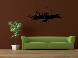 Samolepka na zeď Abstraktní květina
