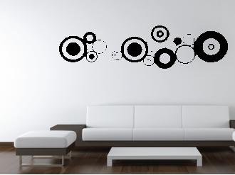 Samolepka na zeď Soustava kruhů