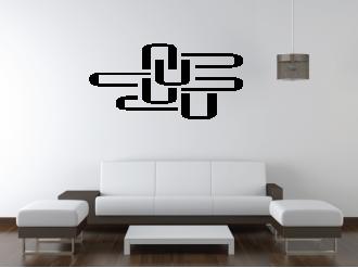 Samolepka na zeď Ú-motiv