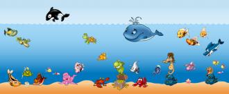 Samolepky na zeď Sada podmořský svět