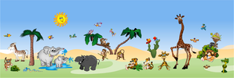 Samolepky na zeď Sada Safari