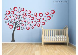 Samolepka na zeď Dětský bublinkový strom 2