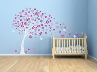 Samolepka na zeď Dětský jarní strom