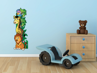 Samolepka na zeď Dětský metr safari