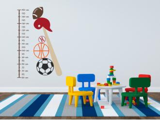 Samolepka na zeď Dětský metr Sport