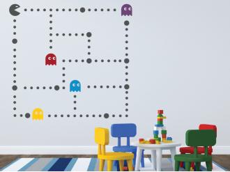 Samolepka na zeď Pacman