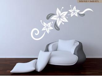 Samolepka na zeď Květinová dekorace 3