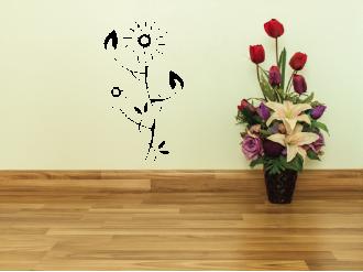 Samolepka na zeď Květinový motiv IV