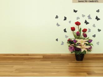 Samolepka na zeď Dvoubarevní motýlci