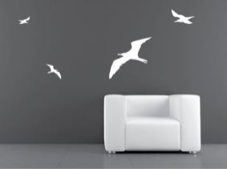 Samolepka na zeď Ptáci