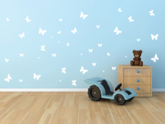 Samolepka na zeď Motýlci sada