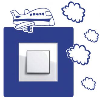 Samolepka na vypínač Dopravní letadlo