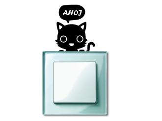 Samolepka na vypínač Kočička