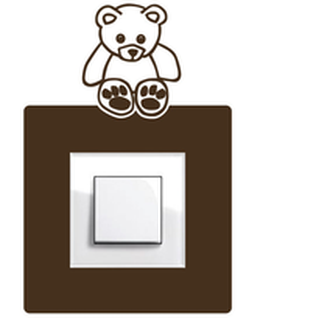 Samolepka na vypínač  Medvídek