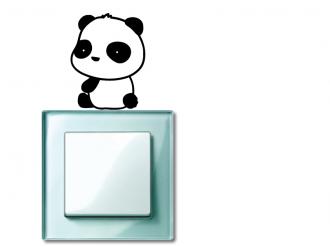 Samolepka na vypínač Panda