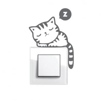 Samolepka na vypínač Spící kočka