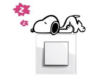 Samolepka na vypínač Spící pes